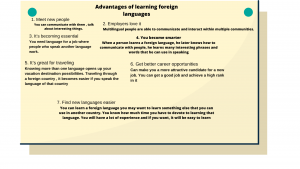Advantages of learning foreign languages